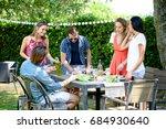 group of friends having fun...   Shutterstock . vector #684930640