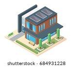 modern luxury isometric green... | Shutterstock .eps vector #684931228