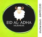 eid al adha greeting card with... | Shutterstock .eps vector #684931330