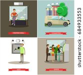 set of banking concept posters. ...   Shutterstock . vector #684933553