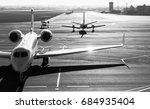 private jet planes  on the... | Shutterstock . vector #684935404