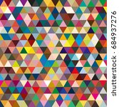 abstract geometric colorful... | Shutterstock . vector #684937276