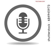 microphone icon vector flat... | Shutterstock .eps vector #684945973