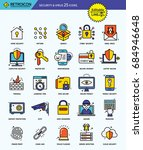 modern retro thin line icons...   Shutterstock .eps vector #684946648
