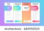 set of offer tariffs. ui ux... | Shutterstock .eps vector #684950524