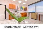 3d cg rendering of the dental... | Shutterstock . vector #684955594