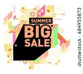 summer sale memphis style web... | Shutterstock .eps vector #684955873
