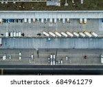 aerial view of truck dock | Shutterstock . vector #684961279