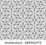 black white seamless wallpaper.... | Shutterstock . vector #684962473