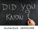 hand writing did you know... | Shutterstock . vector #684962488