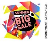 summer sale memphis style web... | Shutterstock .eps vector #684964960
