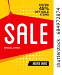 yellow extra sale poster or... | Shutterstock .eps vector #684972874