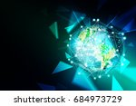 abstract technology background. ... | Shutterstock . vector #684973729