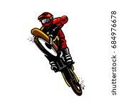 motocross standing | Shutterstock .eps vector #684976678
