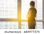 modern business woman in the... | Shutterstock . vector #684977374