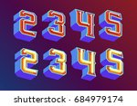 3d vintage letters with... | Shutterstock .eps vector #684979174