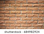 red brick wall texture... | Shutterstock . vector #684982924