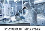 in a secure high level research ...   Shutterstock . vector #684989689