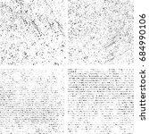 grunge distressed textured set...   Shutterstock .eps vector #684990106