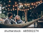 sensual couple resting on... | Shutterstock . vector #685002274