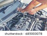garage auto car service... | Shutterstock . vector #685003078