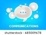 realistic design of online... | Shutterstock .eps vector #685009678