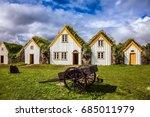 facade of the farmhouse and... | Shutterstock . vector #685011979
