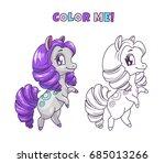 little cute horse illustration... | Shutterstock .eps vector #685013266