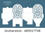 openwork favor box with a lace... | Shutterstock .eps vector #685017748
