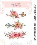 decorative arrows decorated... | Shutterstock .eps vector #685018180