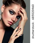 beautiful young white girl... | Shutterstock . vector #685020460