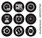 time related icons set | Shutterstock .eps vector #685023760