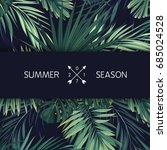green summer tropical flyer or... | Shutterstock .eps vector #685024528