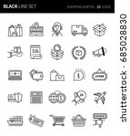 modern thin black line icons... | Shutterstock .eps vector #685028830