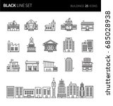 modern thin black line icons...   Shutterstock .eps vector #685028938