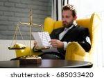 weight scale of justice  lawyer ...   Shutterstock . vector #685033420