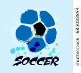vector grunge soccer ball   t... | Shutterstock .eps vector #685033894