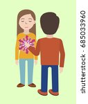 energetic healing. pranic... | Shutterstock .eps vector #685033960