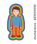 energetic healing. man heal... | Shutterstock .eps vector #685034500