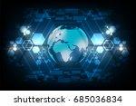 digital world of the future on... | Shutterstock .eps vector #685036834