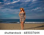 young good looking woman... | Shutterstock . vector #685037644