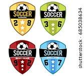 vector set of soccer logo badge ... | Shutterstock .eps vector #685038634