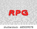rpg in the form of binary code... | Shutterstock . vector #685039078