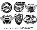 aviation badge set | Shutterstock .eps vector #685040470
