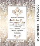 vintage baroque style wedding... | Shutterstock .eps vector #685041070