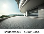 modern building with empty... | Shutterstock . vector #685043356