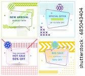set of trendy abstract... | Shutterstock .eps vector #685043404