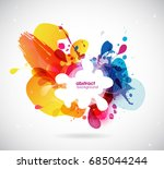 abstract colored flower... | Shutterstock .eps vector #685044244