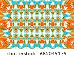 colorful horizontal ornament... | Shutterstock . vector #685049179