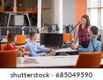 startup business team in modern ... | Shutterstock . vector #685049590